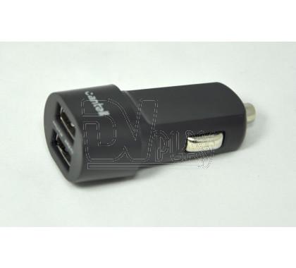 Автомобильная зарядка на 2 USB/3.1 A Cantell Bullet