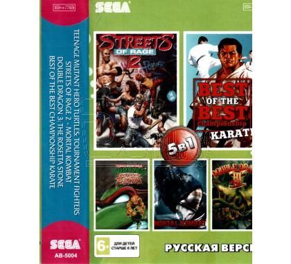 5в1 TMHT + Mortal Kombat + Double Dragon 3 + Streets of Rage +