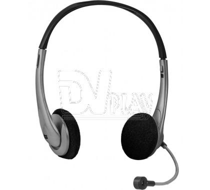 Defender Aura 114 гарнитура черно-серая