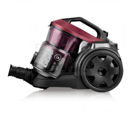 Пылесос безмешковый BBK BV1502 черный/вишневый