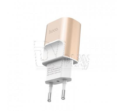 Зарядное устройство 2 USB 2.1A Hoco. C47A