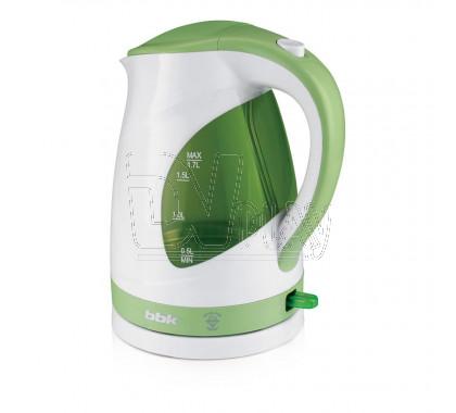 Электрический чайник BBK EK1700P белый/зеленый