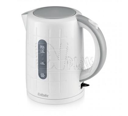 Электрический чайник BBK EK1703P белый/металлик