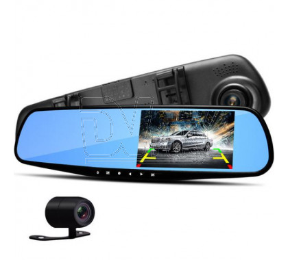 Видеорегистратор в зеркале Eplutus D02 с 2 камерами