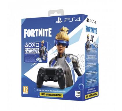 Джойстик DualShock 4 v.2 черный + Fortnite