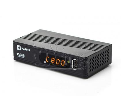 Harper HDT2-1514 приставка DVB-T2 с дисплеем + кабель 3RCA