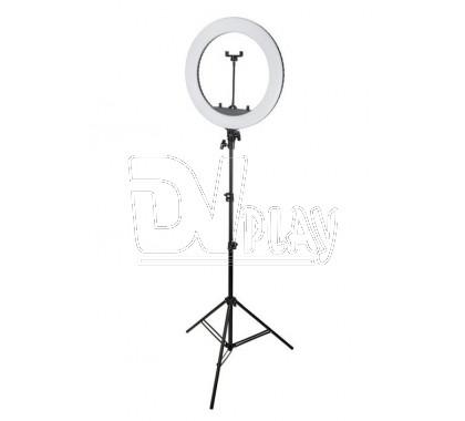 Кольцевая светодиодная селфи лампа 45 см со штативом