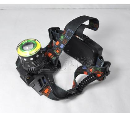 Налобный фонарь аккумуляторный HT-577 + COB