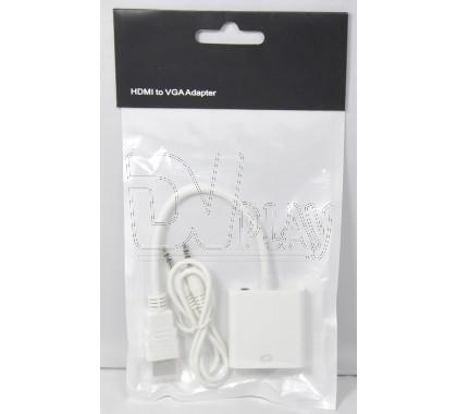 Переходник HDMI (M) - VGA (F) + 3,5 Jack-3,5 Jack