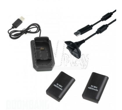 Play & Charge Kit 5-in-1 XBOX 360 Slim