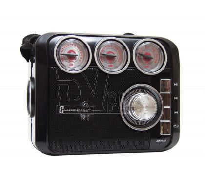 Радиоприемник LUXEBASS A15 (USB\SD\MP3) + фонарик