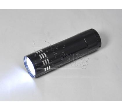 Ручной фонарь на батарейках (9 диодов)