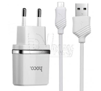 Зарядное устройство USB 1A Hoco. C11 + кабель microUSB