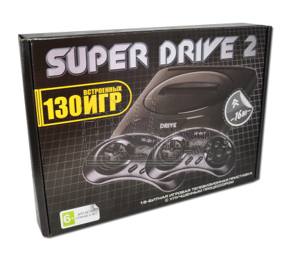 Игровая приставка 16bit Drive 2 Classic (130 игр)