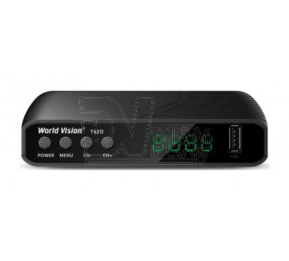 World Vision T62D DVB-T2/C с дисплеем, Wi-Fi