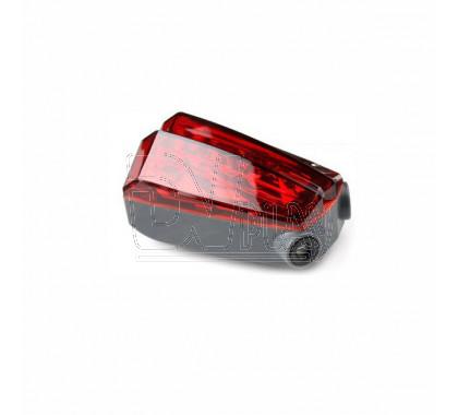 Велосипедный фонарь задний красный с 2 лазерами