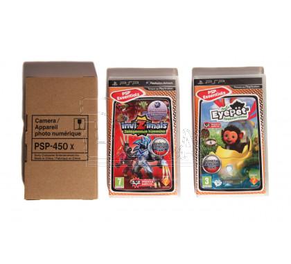 Видеокамера PSP Slim + игра EyePet Приключения + игра Invizimals Затерянные племена (русская версия)
