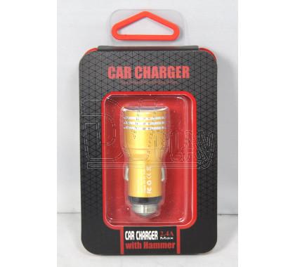 Автомобильная зарядка Car Charger with Hammer