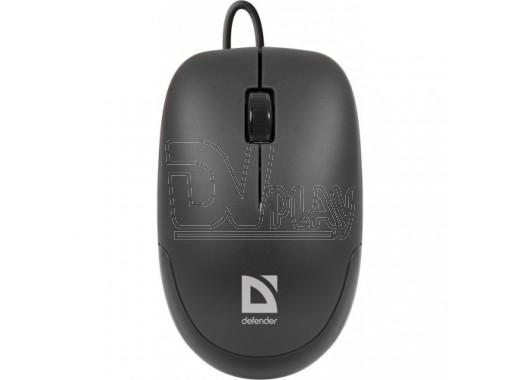 Мышь Defender MM-010 Datum USB черная