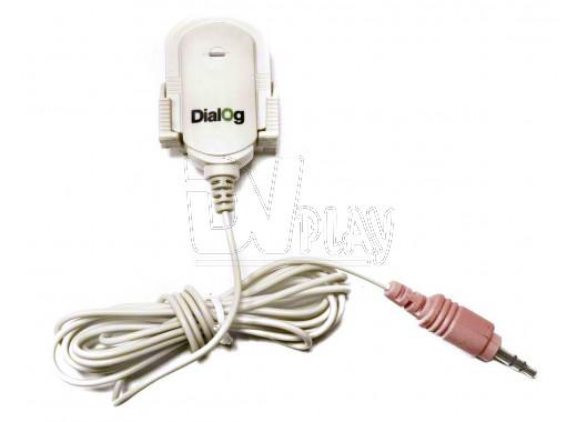 Микрофон Dialog M-100W белый на прищепке