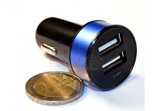 Автомобильная зарядка KS-is Joox черно-голубая
