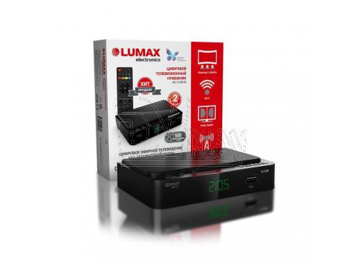 Цифровой ресивер LUMAX 2105HD с дисплеем + кабель 3RCA, WI-FI и Кинозал