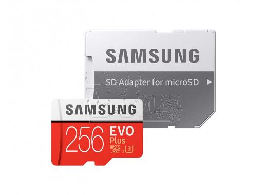 microSDHC 256Gb Samsung Class 10 Evo Plus U1 U3 + адаптер