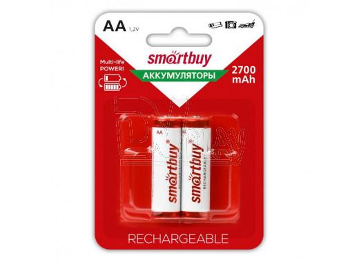 Аккумуляторы Smartbuy HR6 2700mAh NiMH BL2 AAв упаковке 2 шт