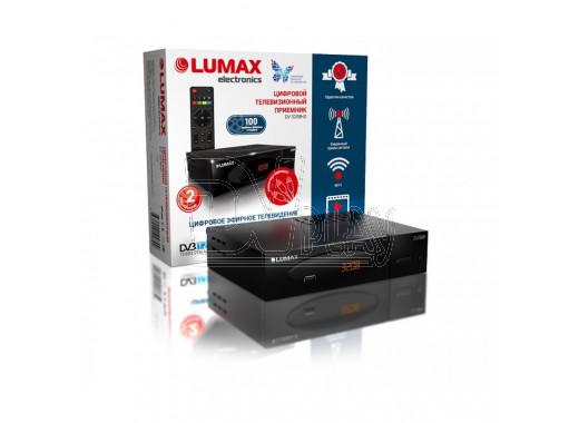 Цифровой ресивер LUMAX 3208HD с дисплеем + кабель 3RCA, WI-FI и Кинозал
