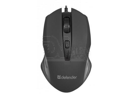 Мышь Defender MM-351 Datum USB черная