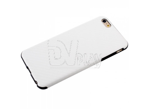 Чехол для iPhone 6 карбон 3D белый