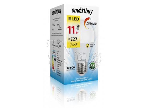 Светодиодная Лампа Smartbuy A60 Диммер Е27 11Вт теплый свет