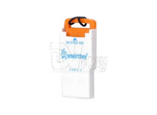 CARD READER microSD Smartbuy SBR-707 оранжевый