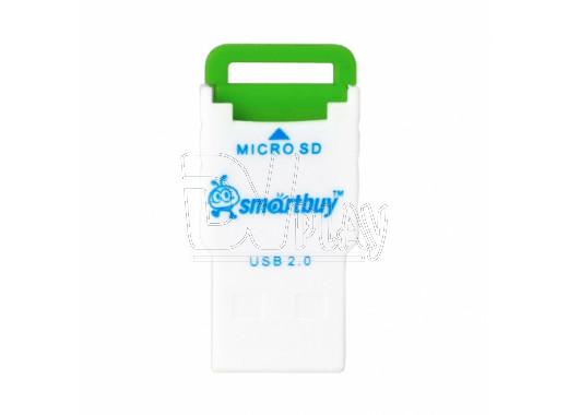 CARD READER microSD Smartbuy SBR-707 зеленый