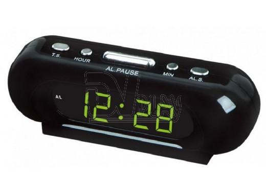 VST 716-2 часы настольные с зелеными цифрами