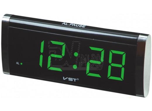 VST 730-2 часы настольные с зелеными цифрами