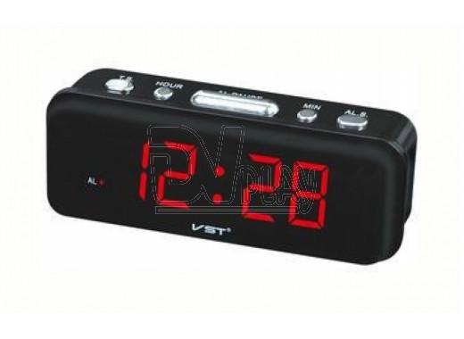 VST 738-1 часы настольные с красными цифрами