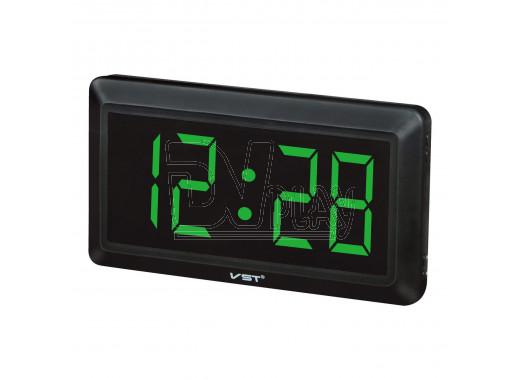 VST 780-4 часы настенные с ярко-зелеными цифрами