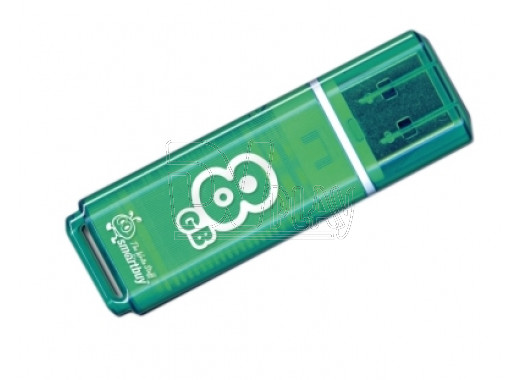 USB Flash 8Gb Smart Buy Glossy зеленая