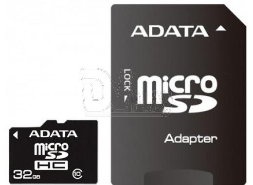 microSDHC 32Gb A-Data Class 10 Premier UHS-I с адаптером