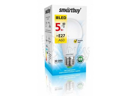 Светодиодная Лампа Smartbuy A60 (Е27, 5Вт, теплый свет)