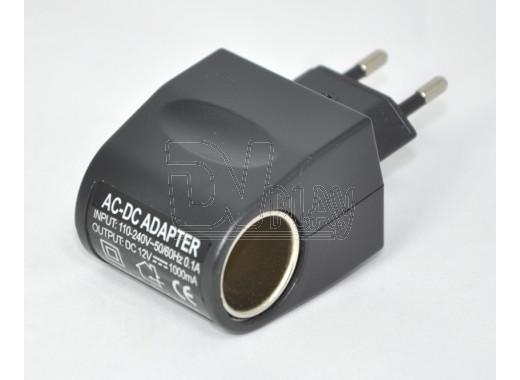 Адаптер питания 12V 1000mA (гнездо прикуривателя)