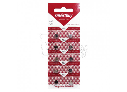Элемент питания Smartbuy AG1 BL10 упаковка 10шт