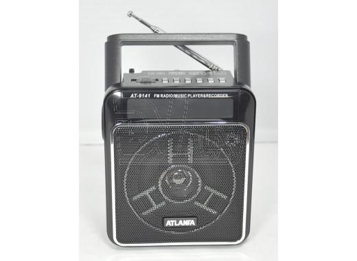 Радиоприемник ATLANFA AT-9141 (USB\SD\MP3) + фонарик