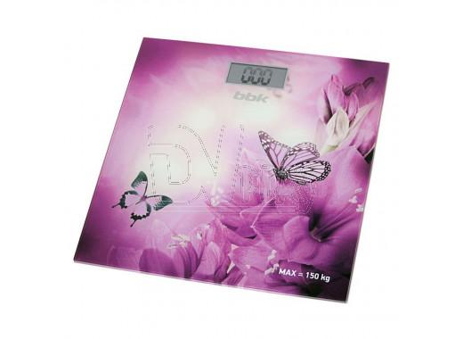 Электронные весы напольные BBK BCS3000G фиолетовые
