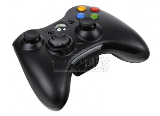 Беспроводной геймпад XBOX 360 черный с батарейками