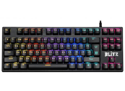 Клавиатура игровая механическая Defender Blitz GK-240L Rainbow с подсветкой