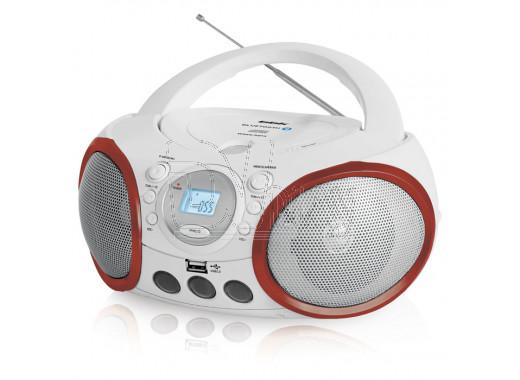 Магнитола BBK BX150BT бело-красная (Bluetooth)
