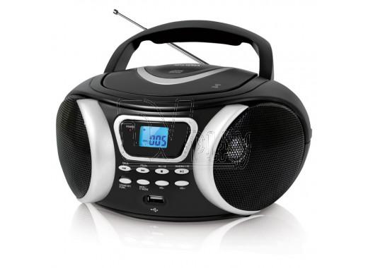 Магнитола BBK BX170BT черно-серебрянная (Bluetooth)