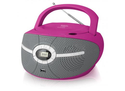 Магнитола BBK BX195U розовая
